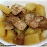 Картофель со свининой из русской печи