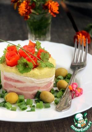Pea-potato porridge with smoked cheese