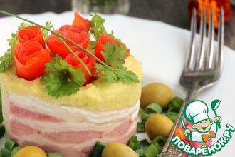 Рецепт: Горохово-картофельная каша с копченым сыром