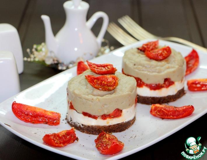 Рецепт: Чизкейк с вялеными помидорами Баклажановое облако