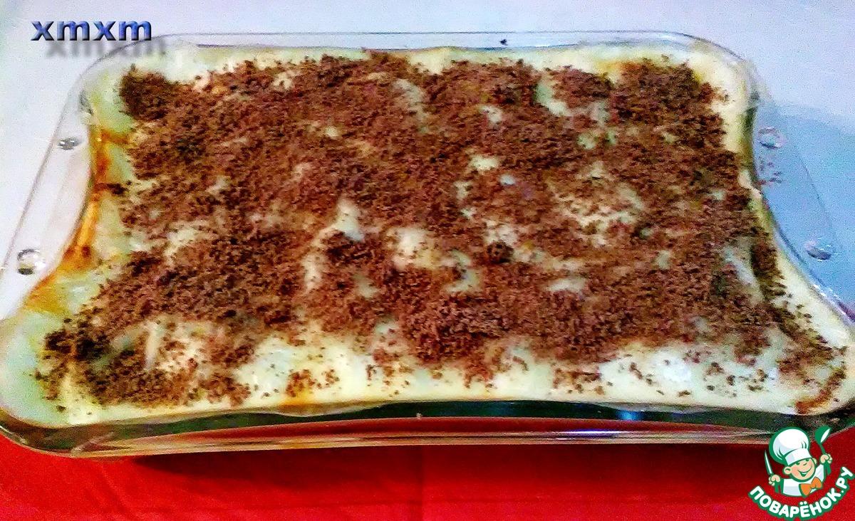 """Творожно-сливовый десерт """"Лазанья"""" с лавашом"""