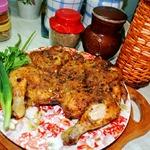 Цыпленок Тапака на топленом масле