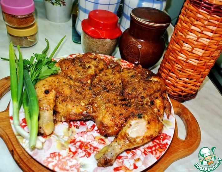 Рецепт: Цыпленок Тапака на топленом масле