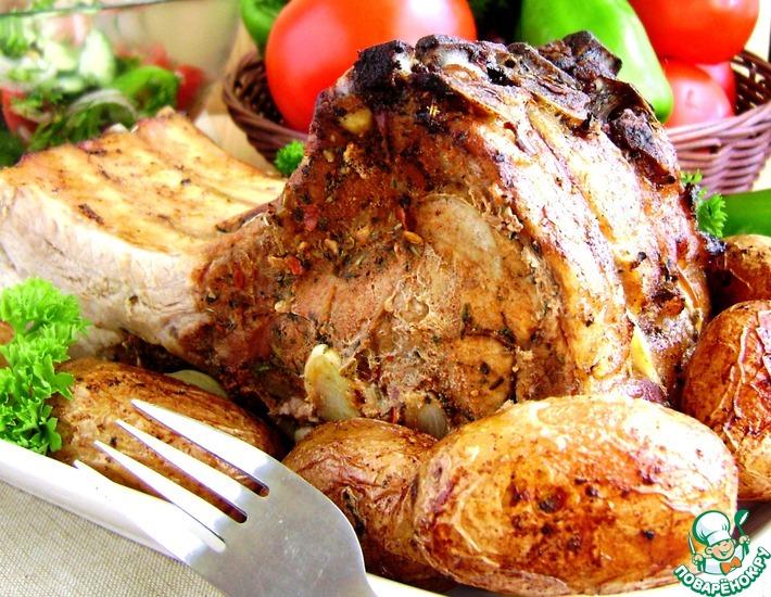 Рецепт: Свиная корейка «Ничего лишнего»