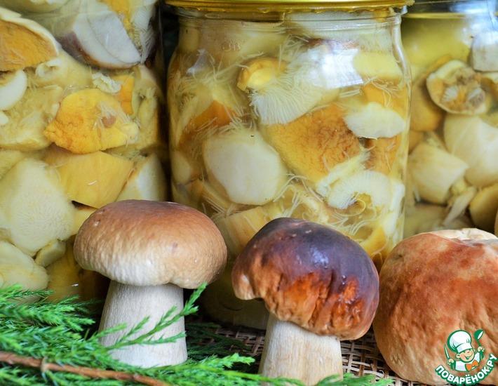 белый гриб маринованный рецепт