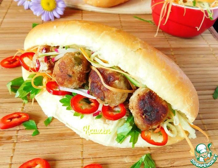 Рецепт: Замороженные мясные шарики на вьетнамский манер