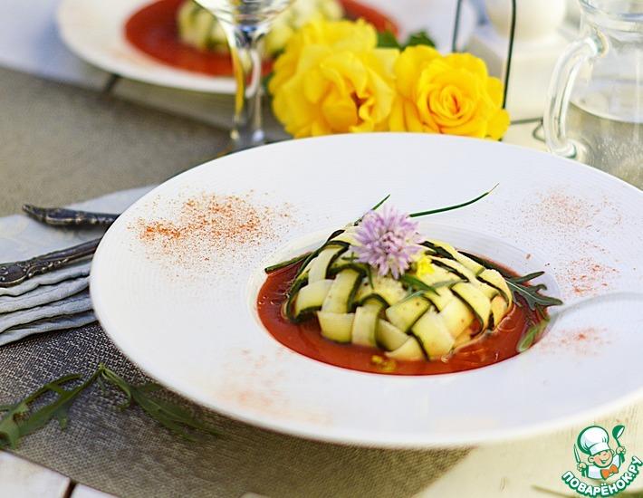 Рецепт: Рыба в цуккини с томатным соусом