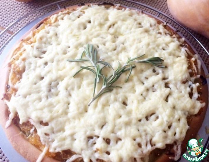 Рецепт: Тыквенная пицца с розмарином