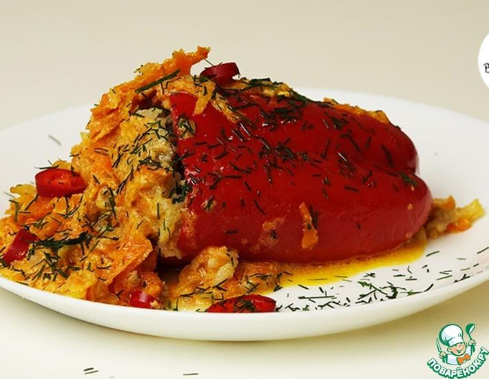 Рецепт: Фаршированный перец Сладенький