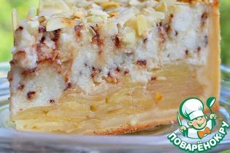 Рецепт: Яблочно-творожный пирог с шоколадом