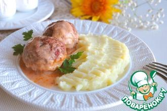 Рецепт: Тефтели в томатно-сметанном соусе