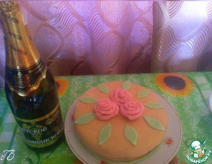 Рецепт: Торт Майская роза