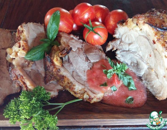 Рецепт: Свинина, запеченная в аджике