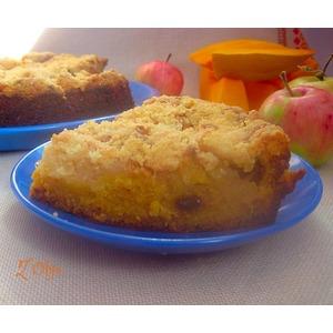 Тыквенный пирог со штрейзелем