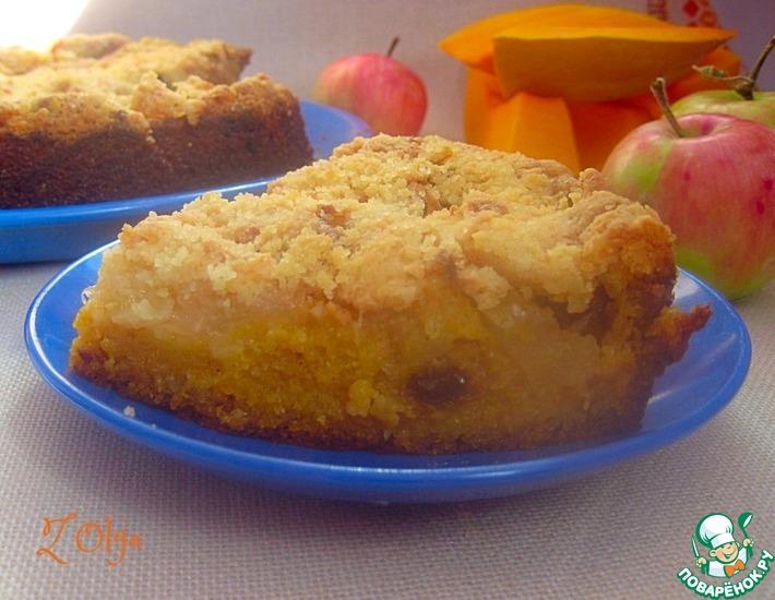 Рецепт: Тыквенный пирог со штрейзелем