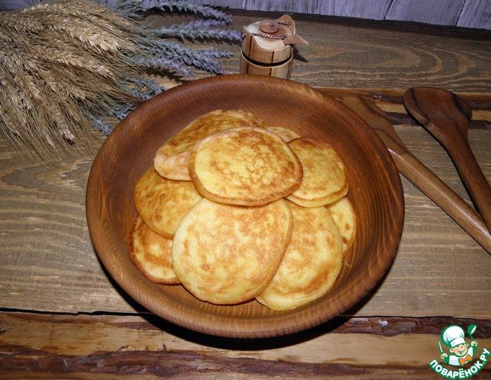 Рецепт: Оладьи из кабачков Сладкое удовольствие