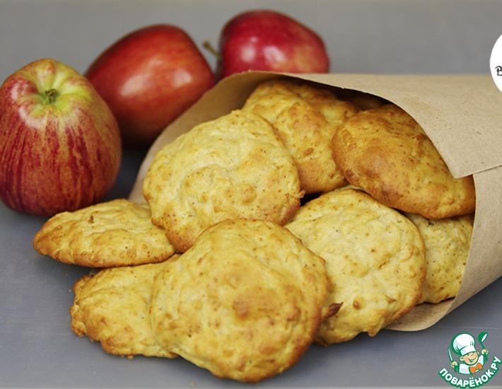 Рецепт: Быстрое яблочное печенье