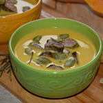 Тыквенный крем-суп с куриной печенью