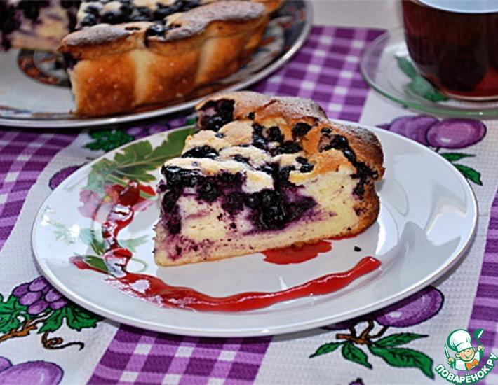 Рецепт: Чернично-творожный пирог