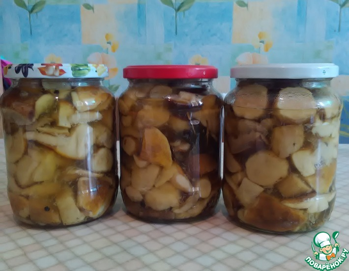 Рецепт: Консервированные белые грибы