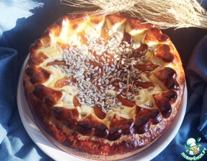 Рецепт: Сдобный пирог с творогом и джемом