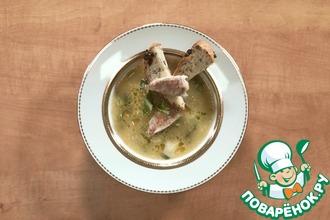 Рецепт: Суп из барабульки, лука-порея и фенхеля