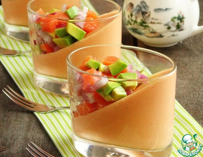 Рецепт: Овощная закуска с форелью