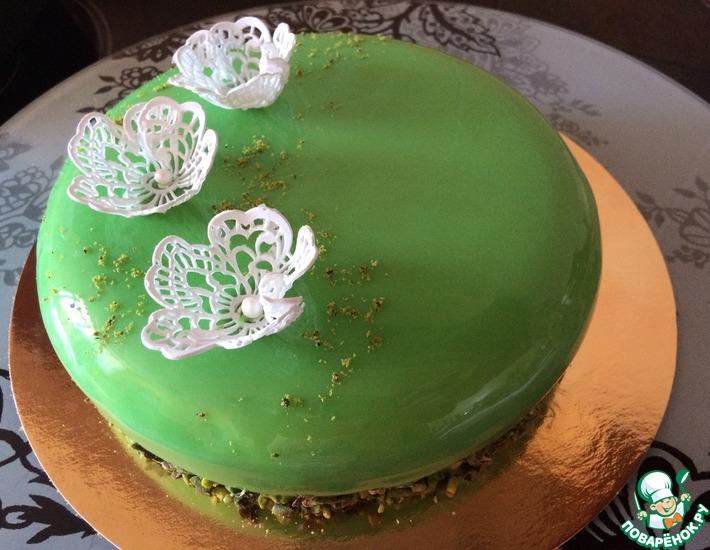 Рецепт: Шоколадный муссовый торт с карамельным желе