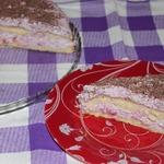 Малиновый торт со сливочным сыром