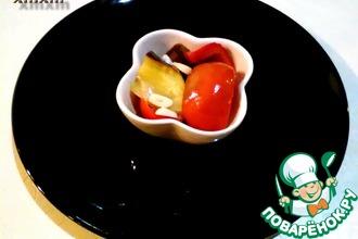 Рецепт: Маринованные перцы с баклажаном на зиму