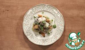 Рецепт: Морской черт с овощами