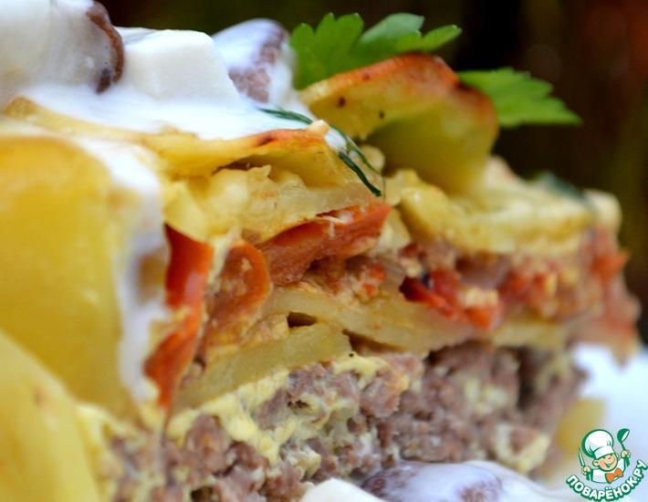 Рецепт: Картофельная запеканка с белым соусом
