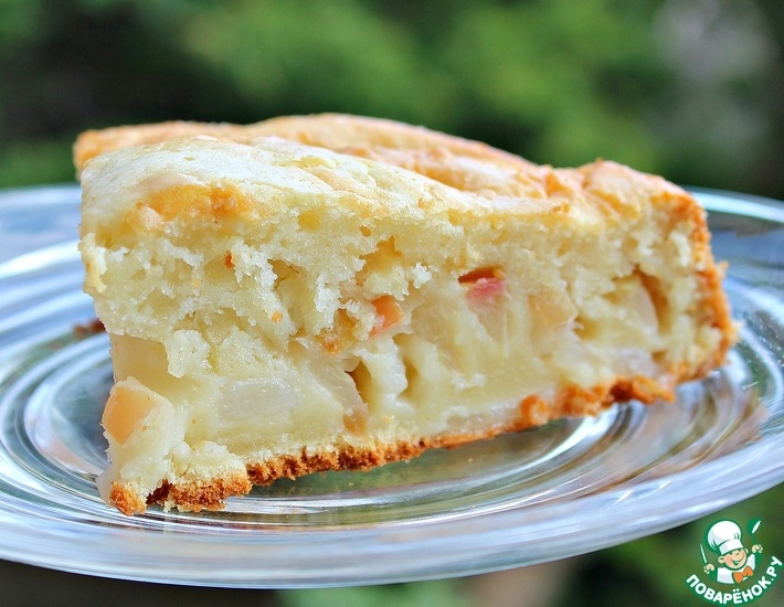 Рецепт: Домашний фруктовый пирог