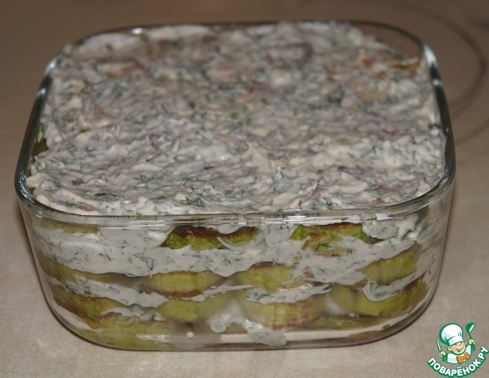 Рецепт: Кабачки с чесноком