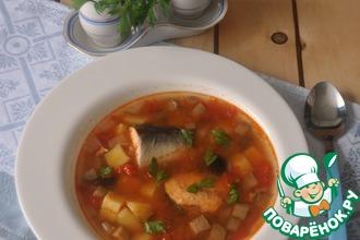 Рецепт: Рыбная солянка по-деревенски