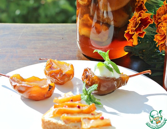 Рецепт: Медово-грушевое варенье-десерт