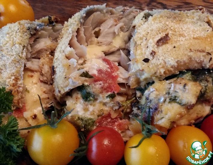 Рецепт: Запеченная скумбрия в греческом стиле