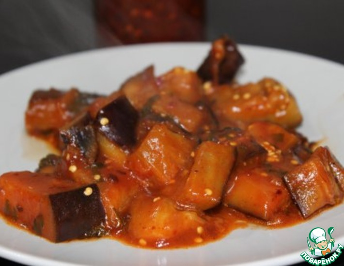Рецепт: Острые баклажаны