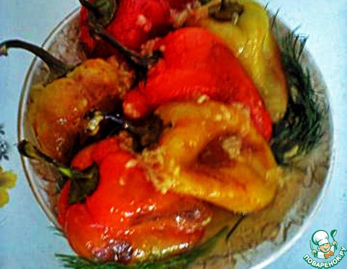 Рецепт: Перец на сухой сковородке
