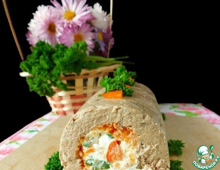 Рецепт: Паштет-рулет Праздничный