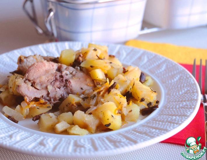 Рецепт: Жаркое по-домашнему с мясом кролика