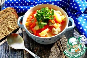 Рецепт: Нежный суп-гуляш из куриного филе