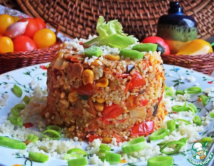 Рецепт: Кус-кус с ветчиной и овощами