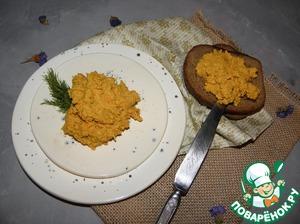 Яичный паштет с печенью трески