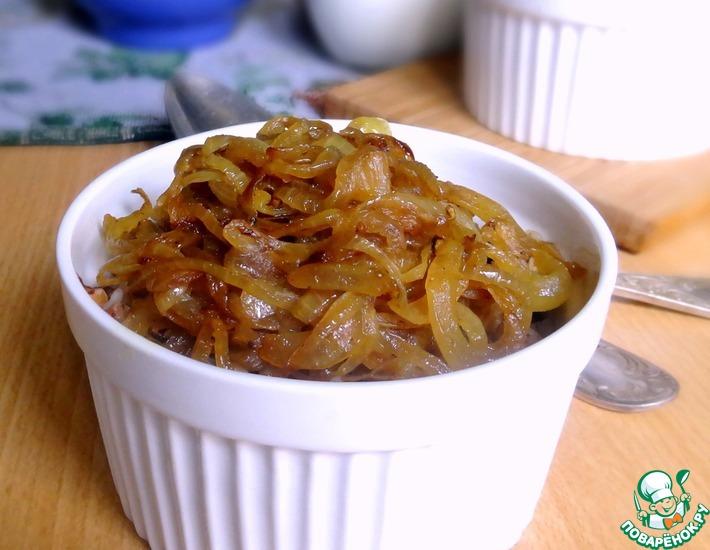 Рецепт: Гречка с грибами и пряным луком