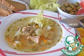 Рецепт: Рыбный суп с сельдереем Летняя веранда
