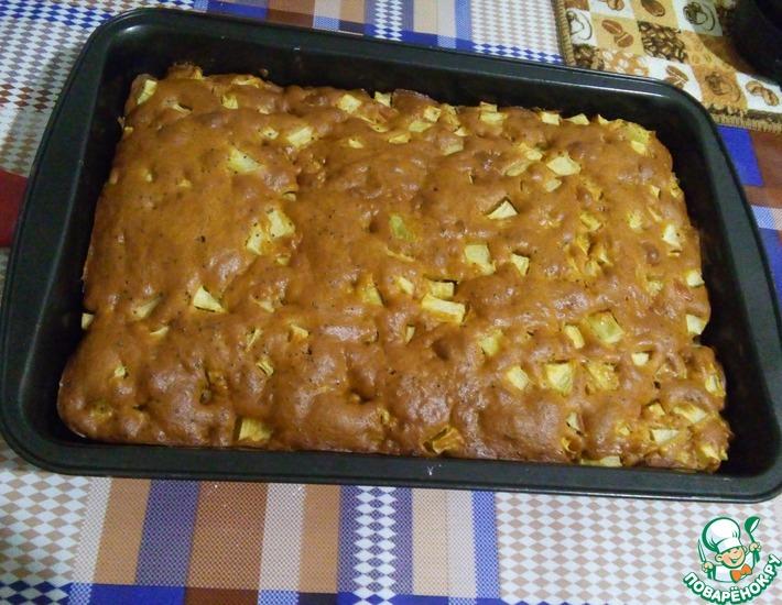Рецепт: Томатный пирог с яблоками