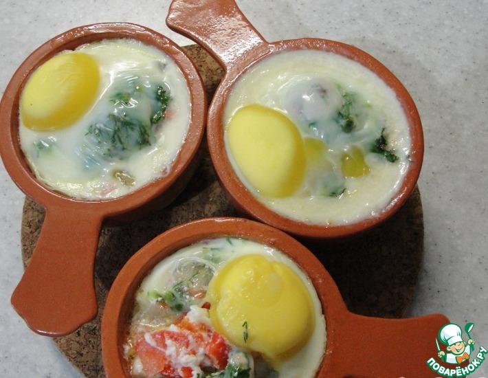 Рецепт: Яйца-кокот по-болгарски