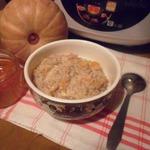 Гречневая каша с тыквой и мёдом