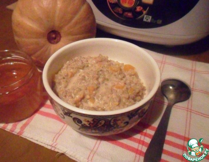 Рецепт: Гречневая каша с тыквой и мёдом